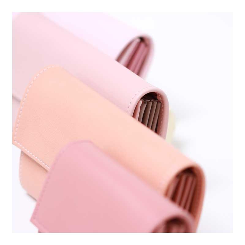 leder geldbörsen blush peach pink nude