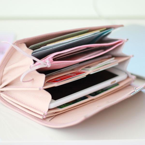 viel platz in einem portemonnaie