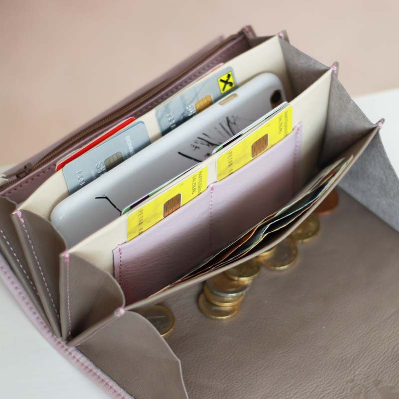 portemonnaies mit großem münzfach