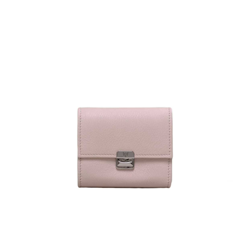 Kleines Portemonnaie Leder Sahne Creme S