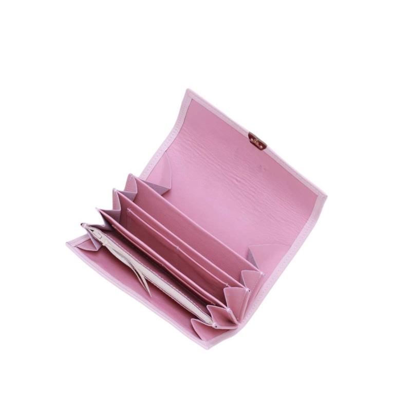 geldbeutel leder rosa mit viel platz