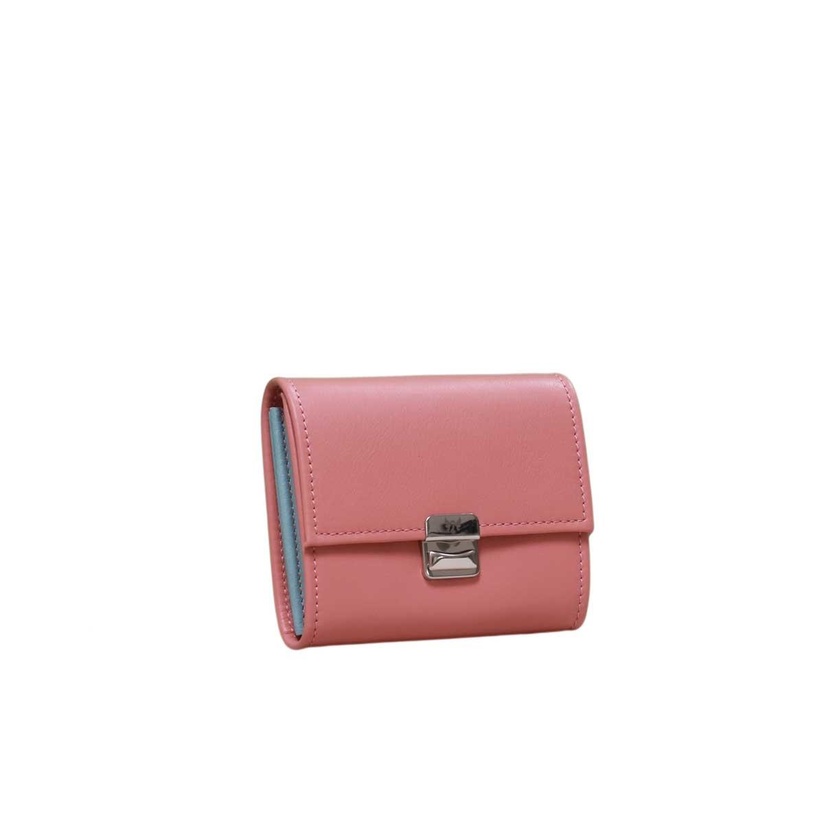 hochwertige leder geldbörsen damen rosenholz blush