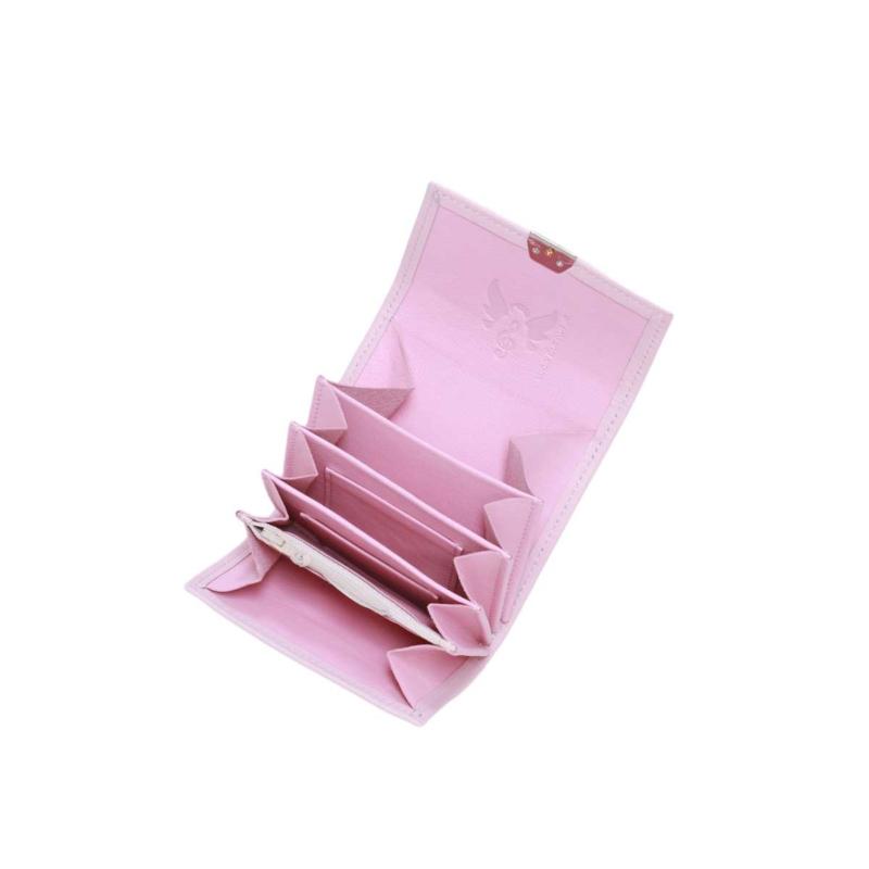 kleine geldbörse leder rosa mit viel platz