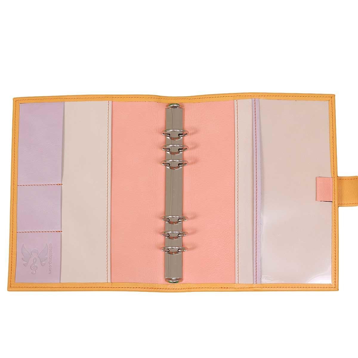 Leder Planner A5 Orange