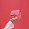 ausgefallene kleine leder geldbeutel peony pink