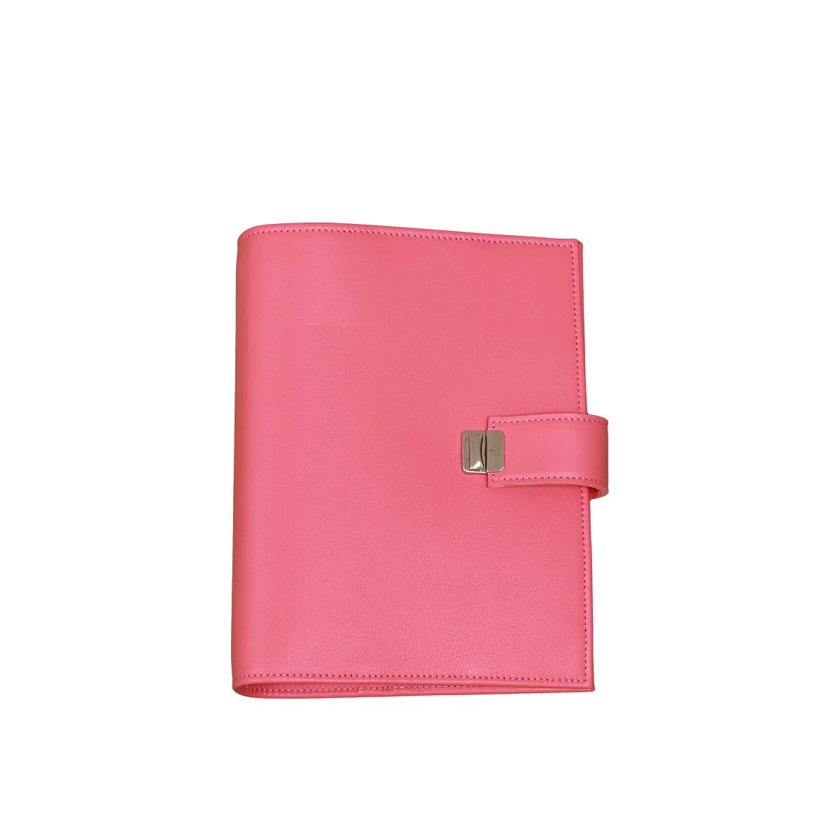 elfenklang a5 planner binder genuine leather peony pink