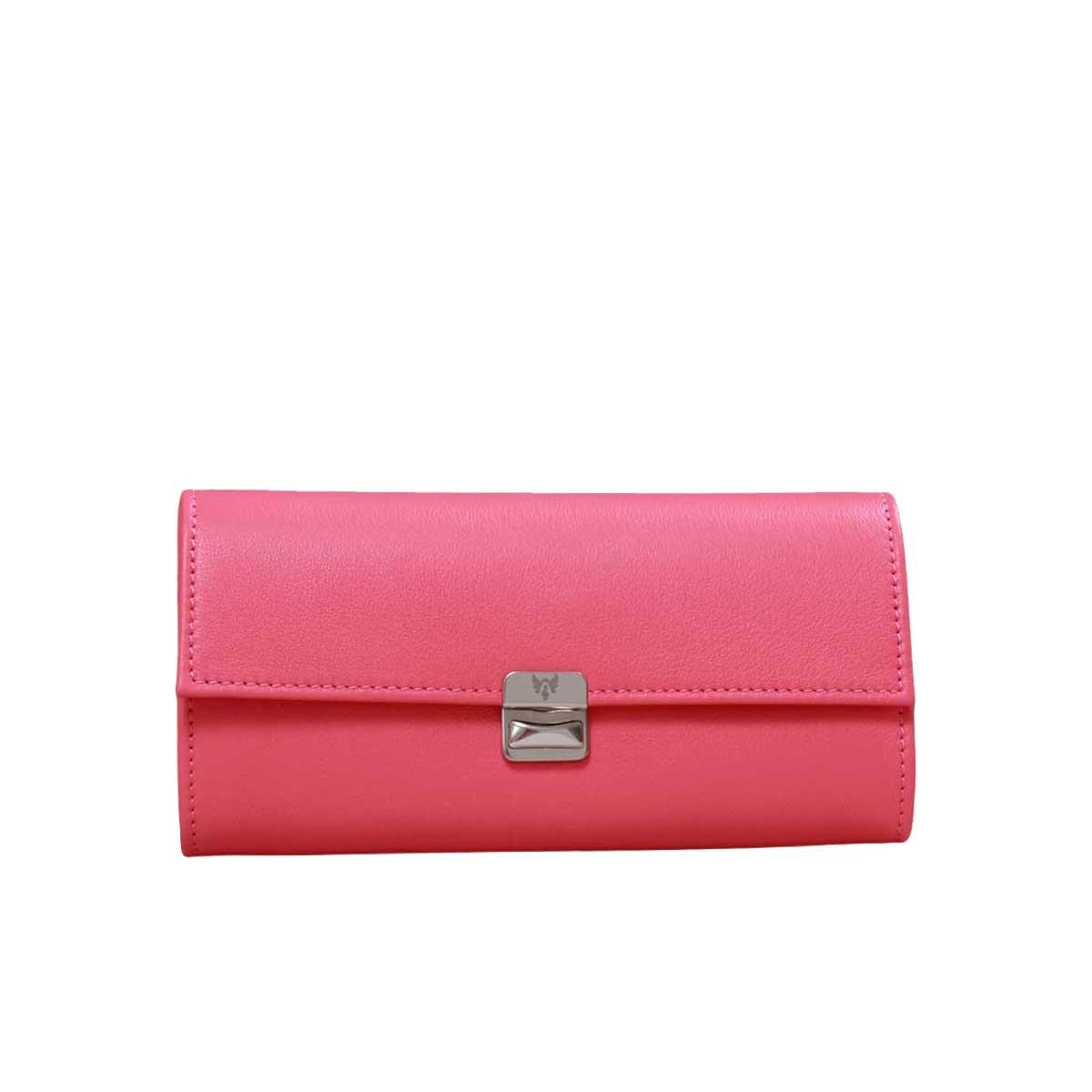 besondere damen geldbörsen peony pink leder