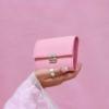 besondere geldbörsen klein leder rosa