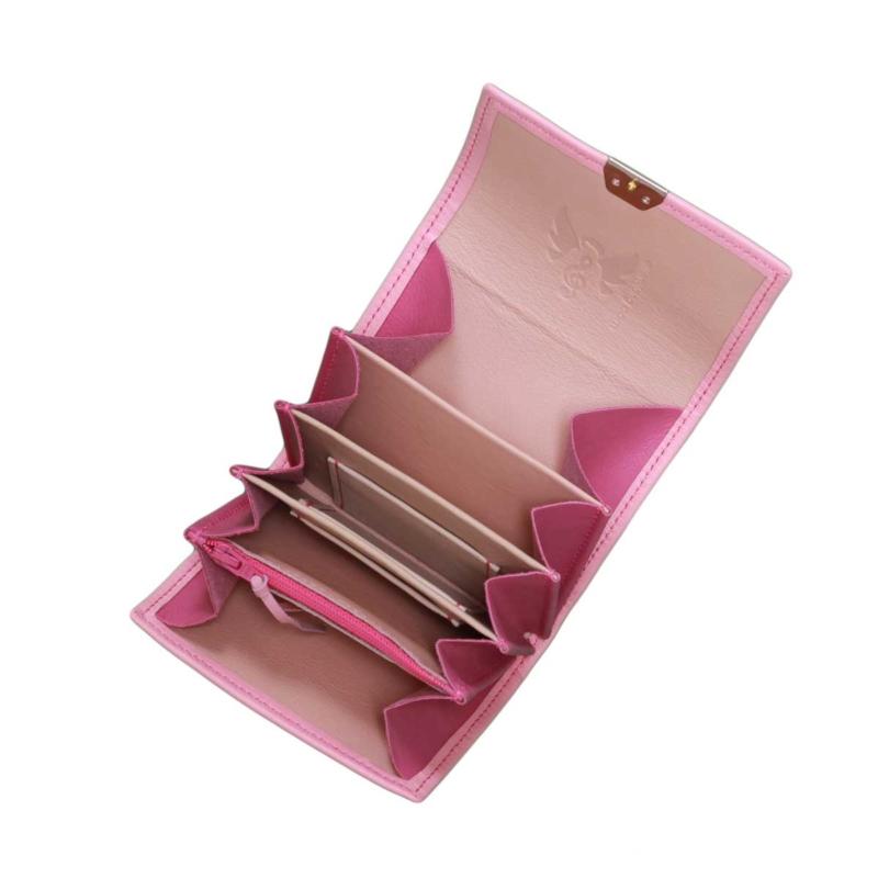 ausgefallene portemonnnaies leder rosa klein