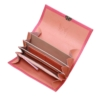 coole geldbörse leder pink peony