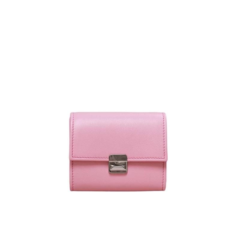 kleines rosa portemonnaie leder elfenklang