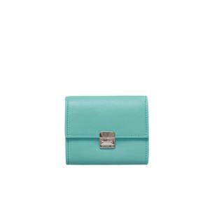 Kleines Leder Portemonnaie Türkis S