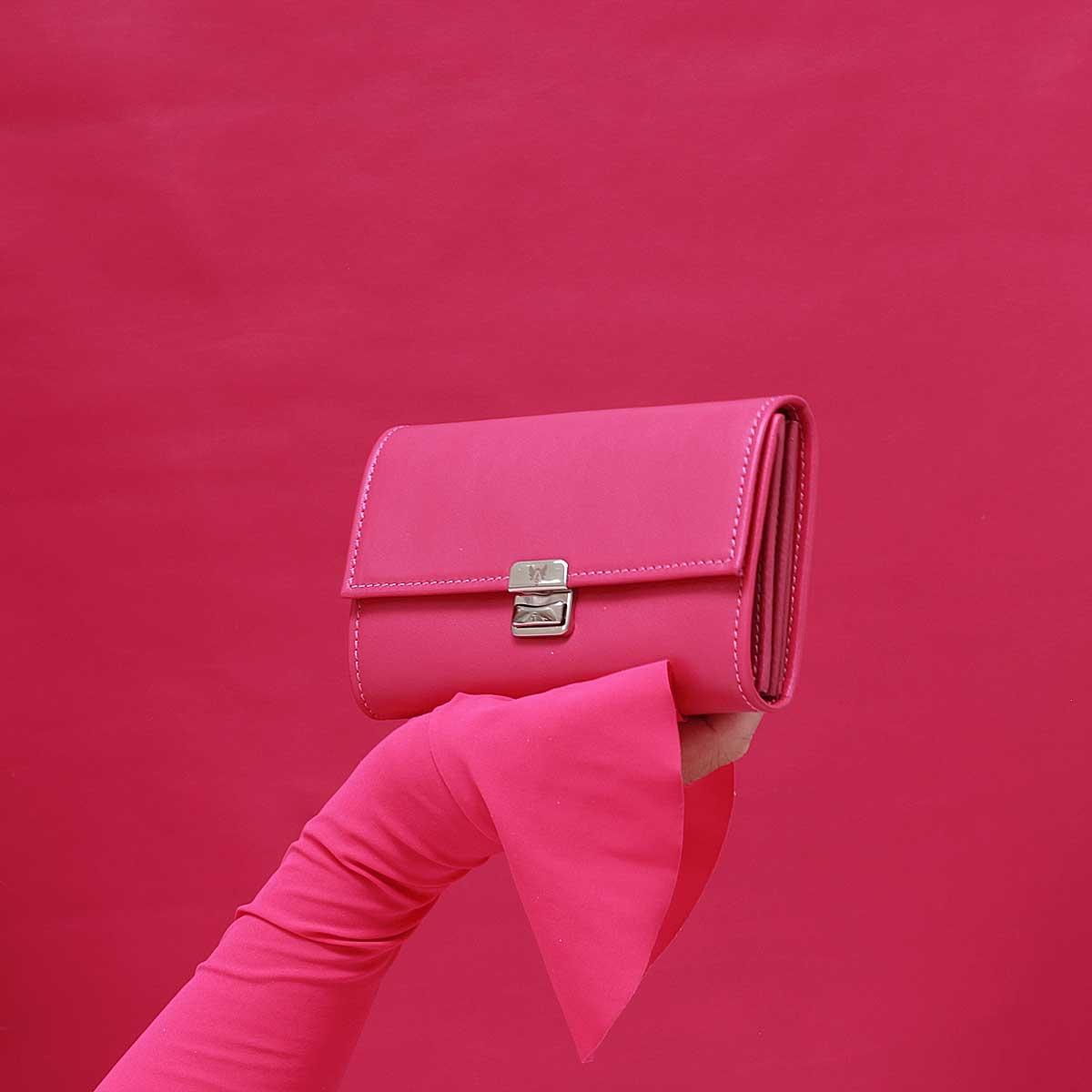 aussergewöhnliche geldbörsen leder pink elfenklang