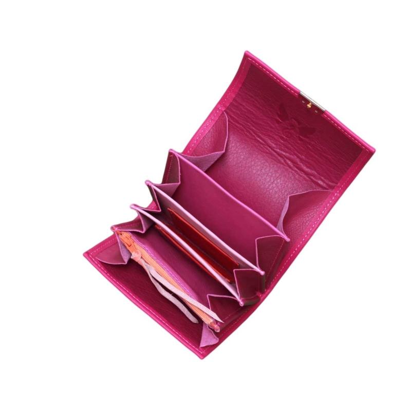 ausgefallene kleine leder geldbeutel elfenklang pink