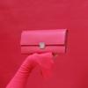 handgemachte hochwertige leder geldbörsen pink