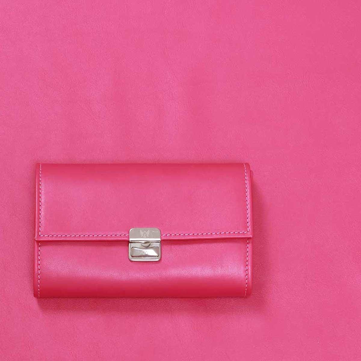 pink geldbeutel medium leder knallig