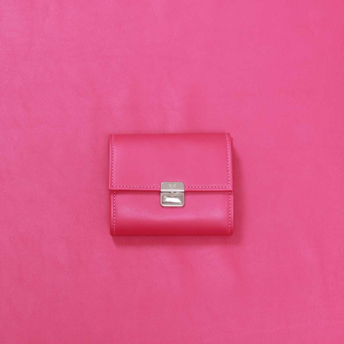 geldbeutel leder pink schön
