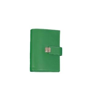 ausgefallene personal planer zeitplanung leder grün