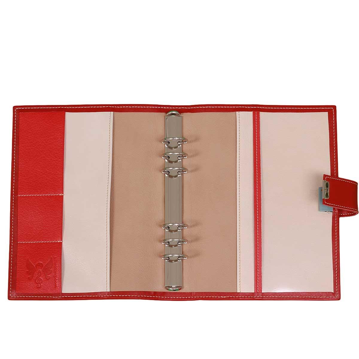 A5 Leder Kalender Planer Scarlet Rot