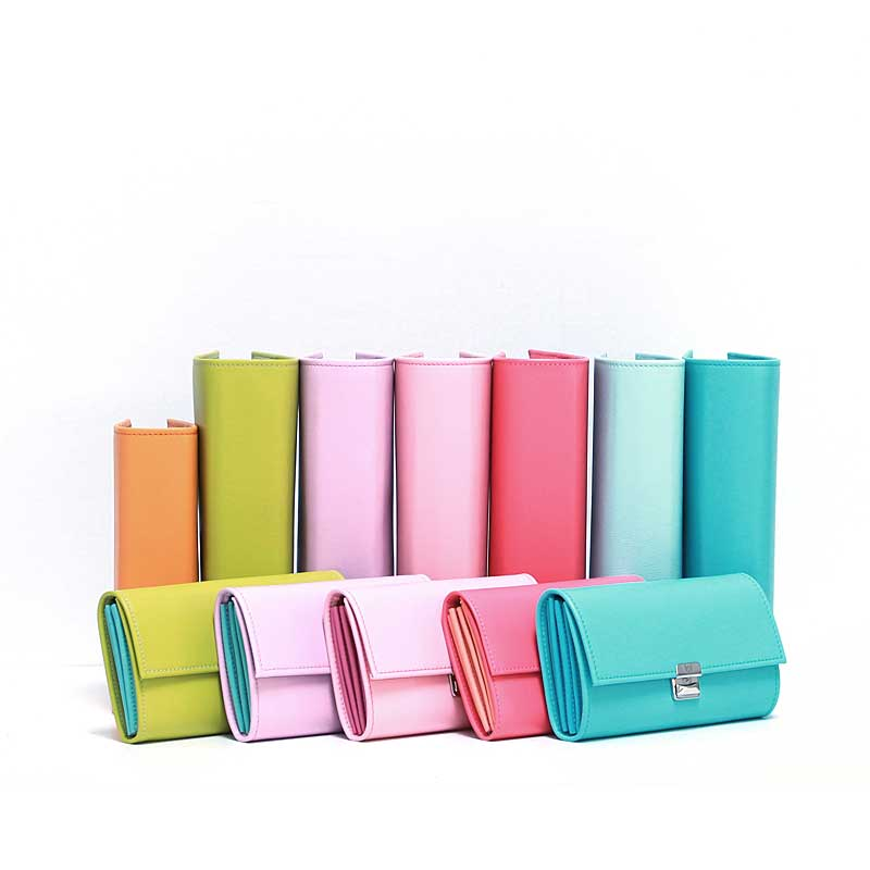 unique leather wallets for women planner binder