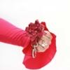 Leder Schlüsselanhänger mit Blume Kirsche