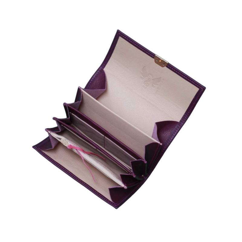 kellnerbörsen aus echtem leder lila kaufen