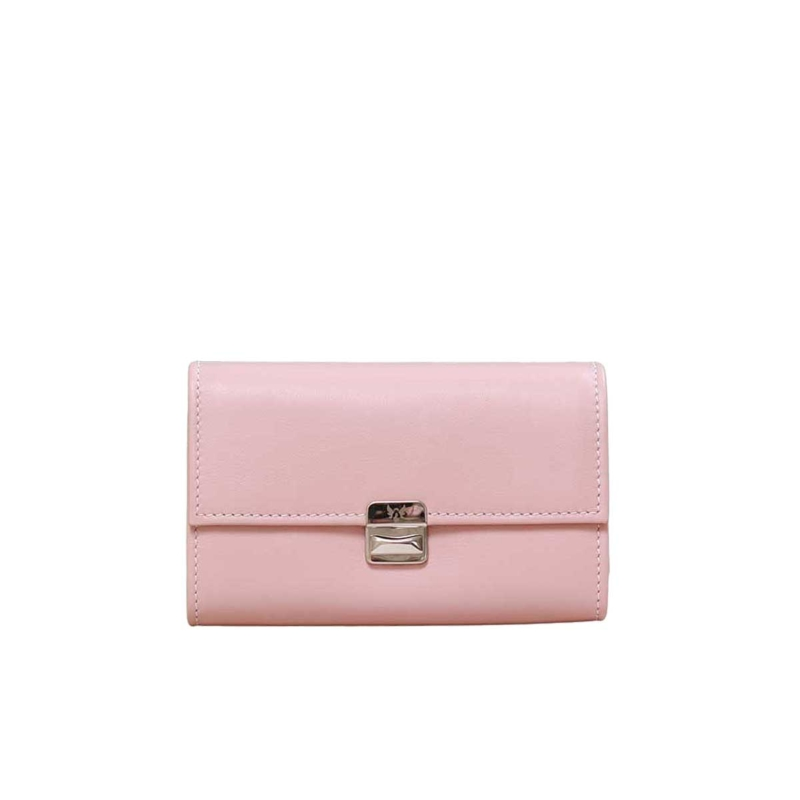 leder geldbeutel blush rosa elfenklang medium