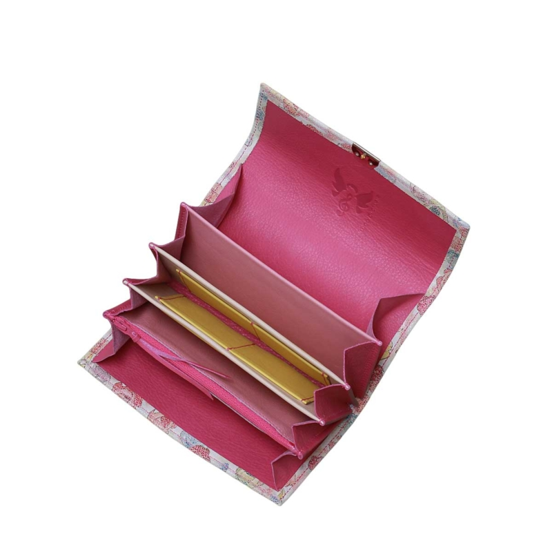 farbenfrohe damen geldbeutel mit rosen blumen