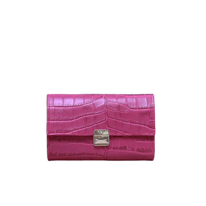 besondere leder geldbörsen krokodil leder pink