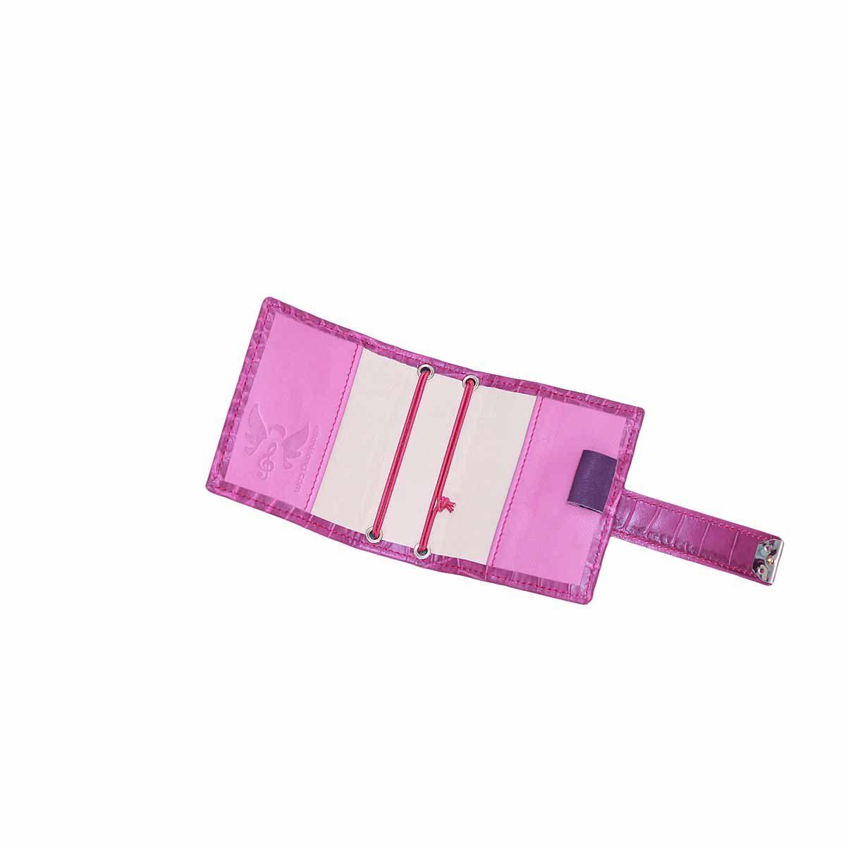 A7 Nano Planer mit Gummis Leder Kroko Purple