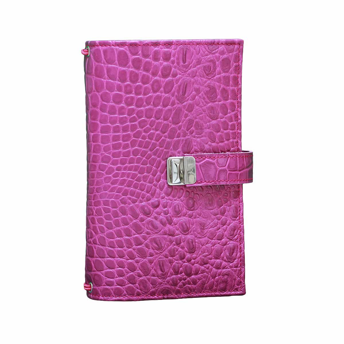 travelers notebook regular pink kroko