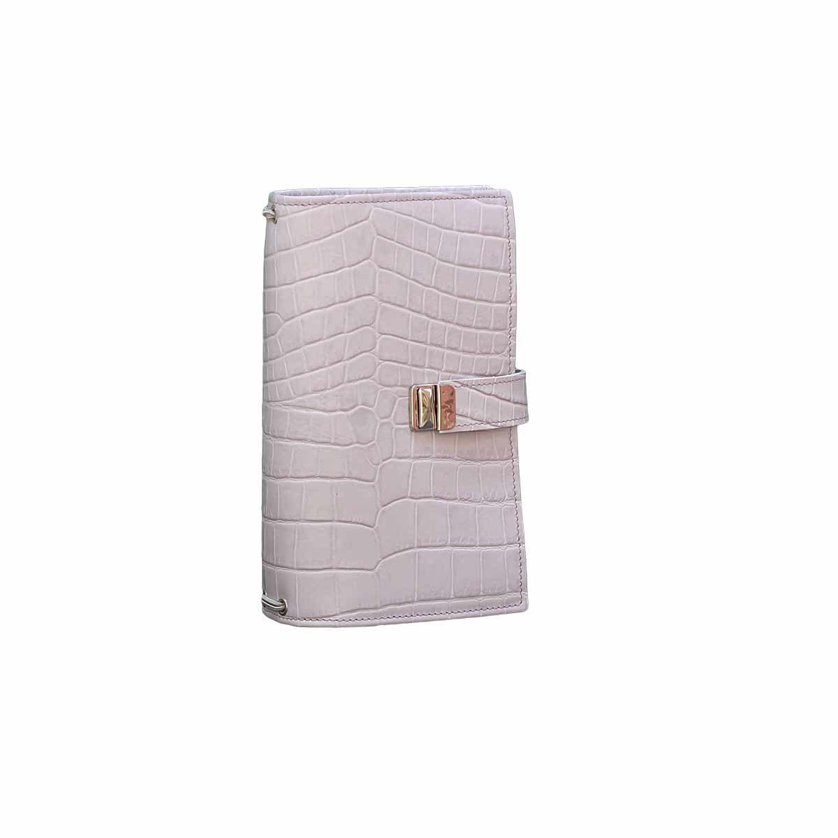 traverl notebook regular kroko leder flieder