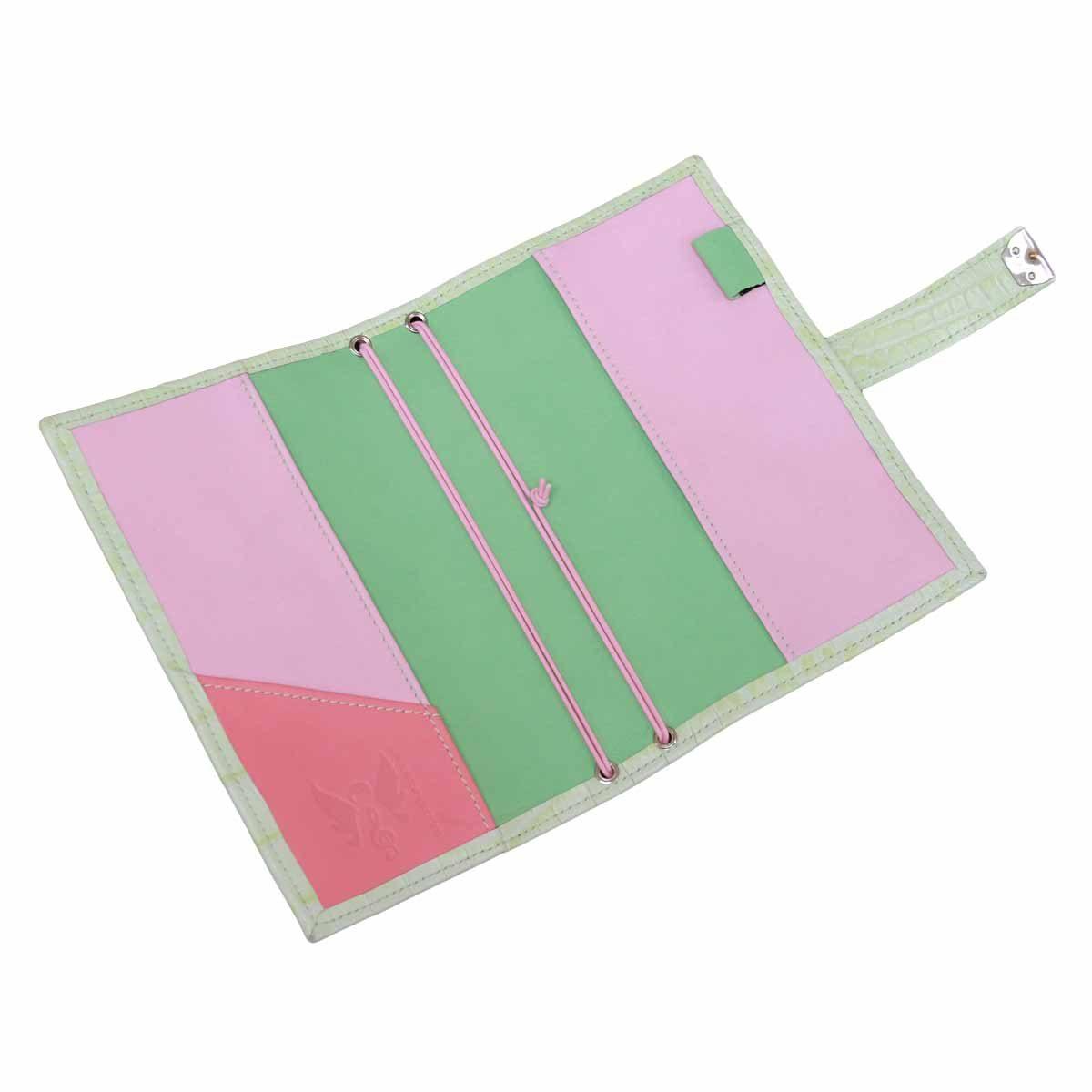 travelers notebook regular kroko leder hellgrün