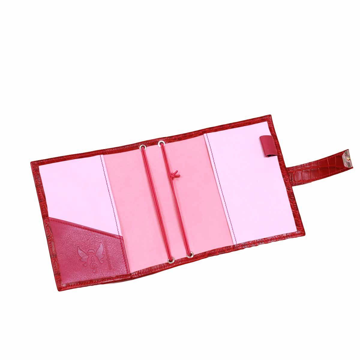 B6 Travelers Notebook Kroko Rot