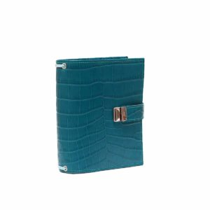 B6 Travelers Notebook Kroko Petrol