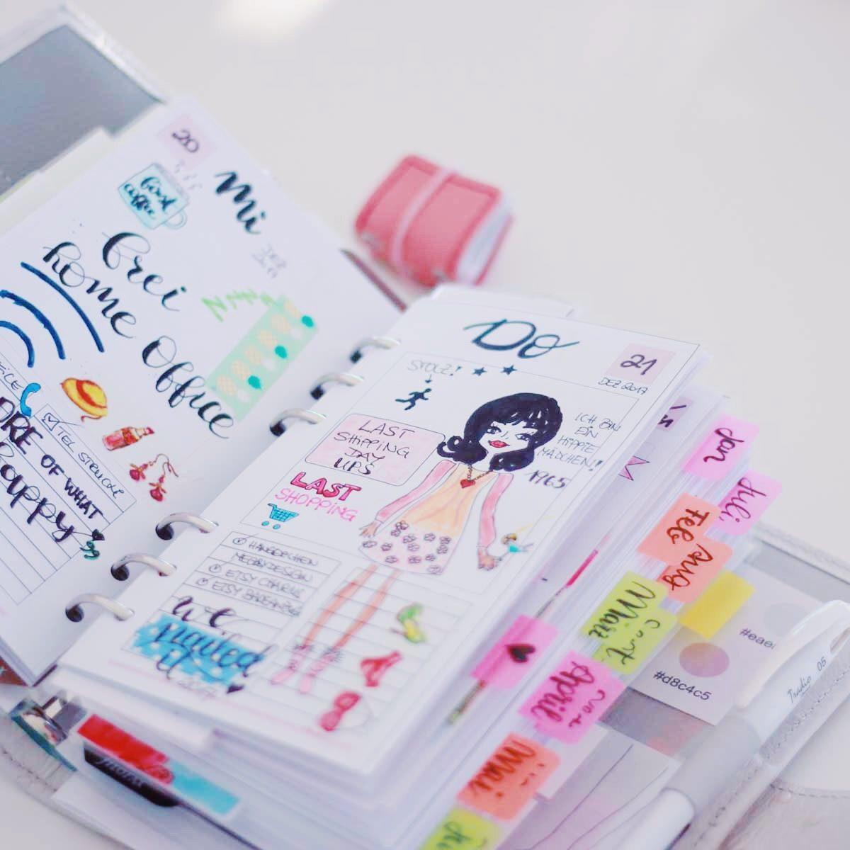 planning dailys dekoriert
