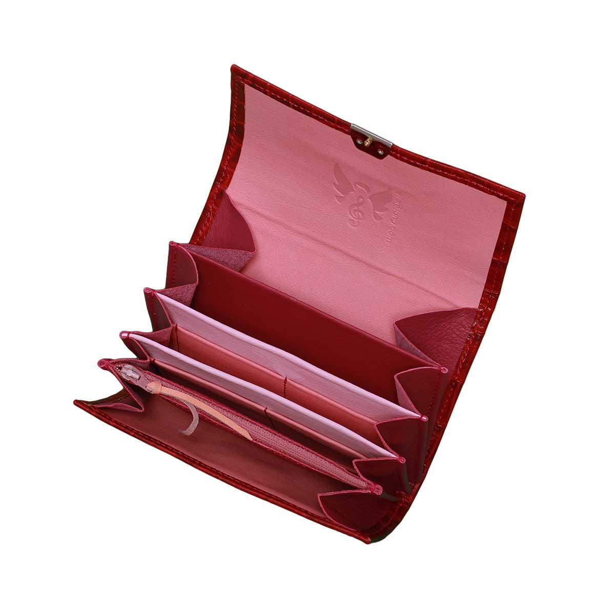 Damen Portemonnaie Kroko Pr 228 Gung Rot M Geldb 246 Rsen Shop