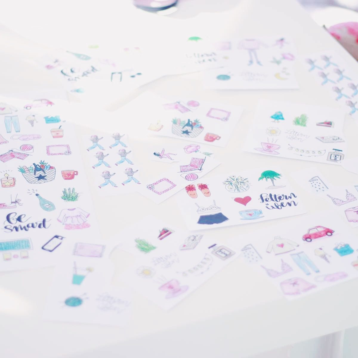 doodles sticker planning elfenklang