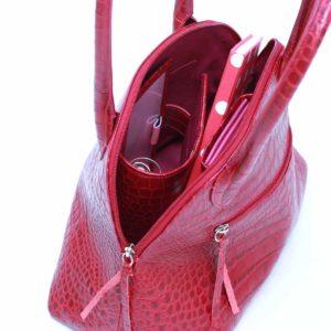 kroko handtaschen rot