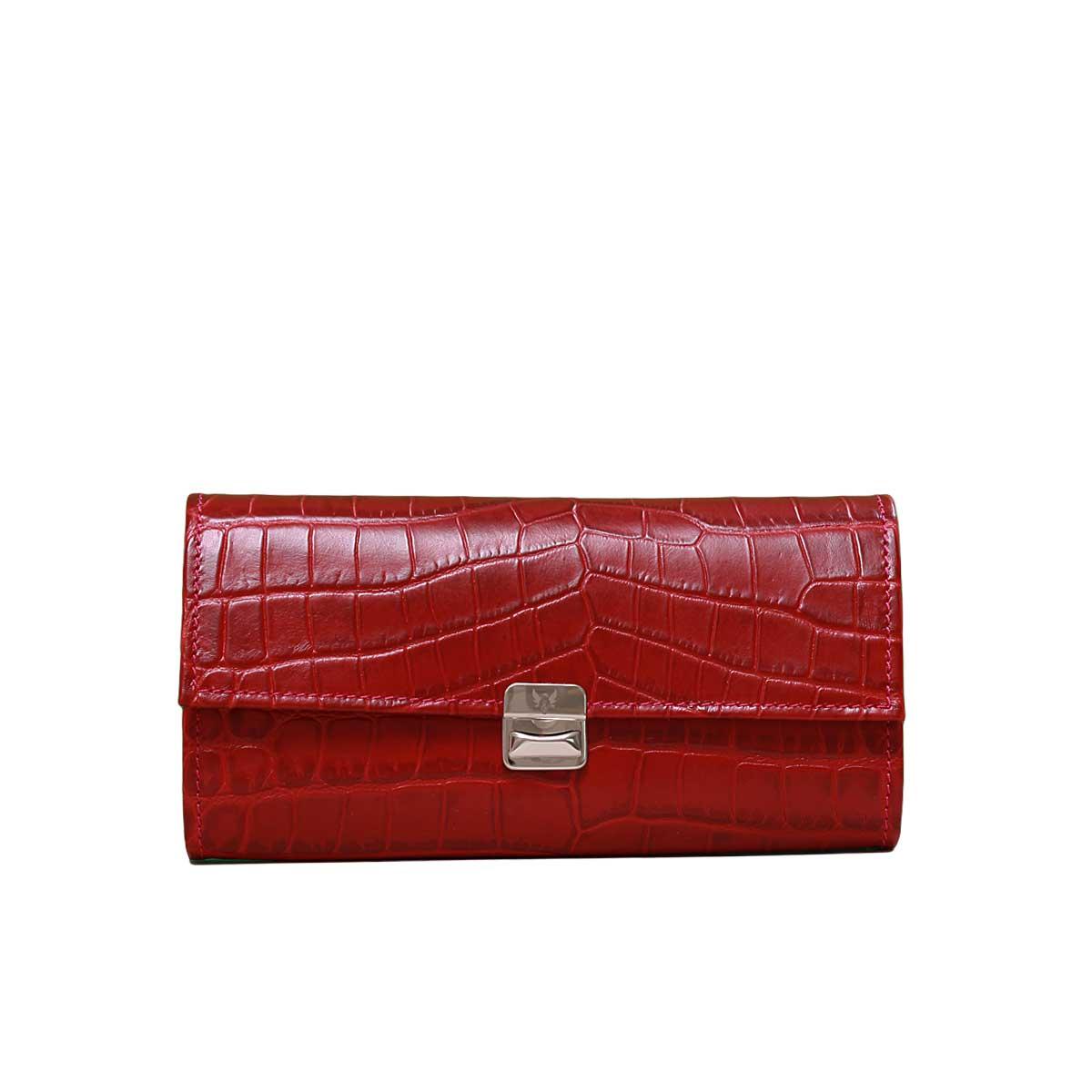 Details für Durchsuchen Sie die neuesten Kollektionen wie man serch Leder Geldbörse Kroko Rot XL