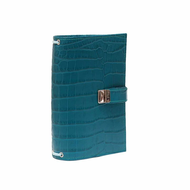 regular travelers notebook leder kroko petrol