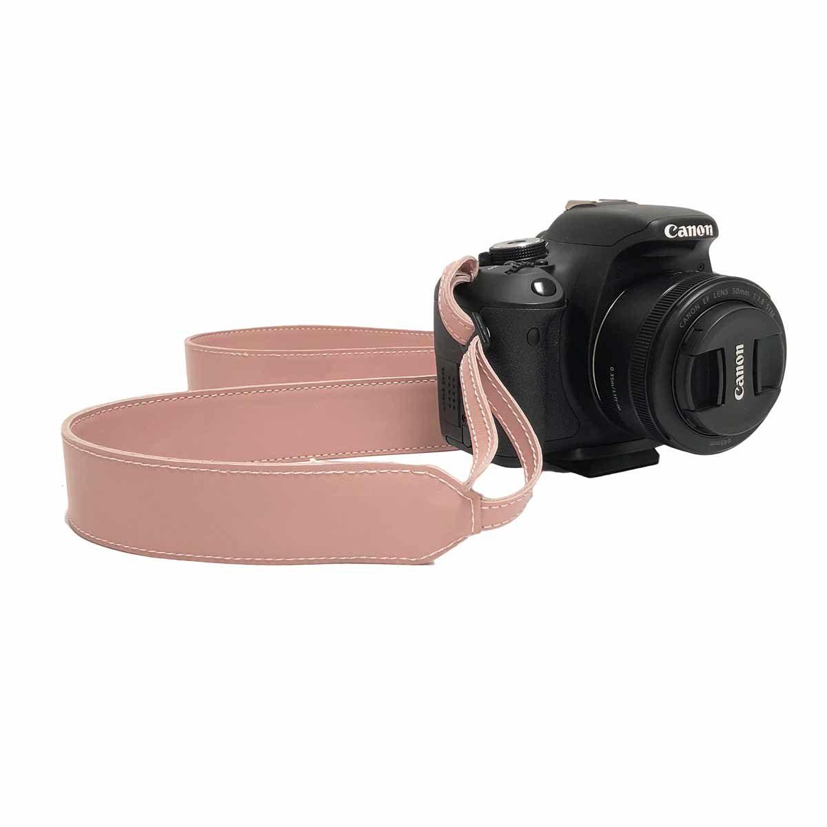 Kameragurt Leder Blush
