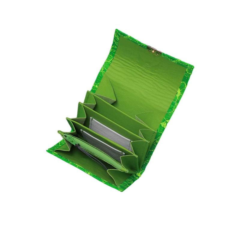 schrille damen geldbörsen mit spitze neon grün