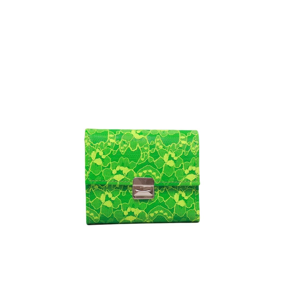damen geldbörse neon grün