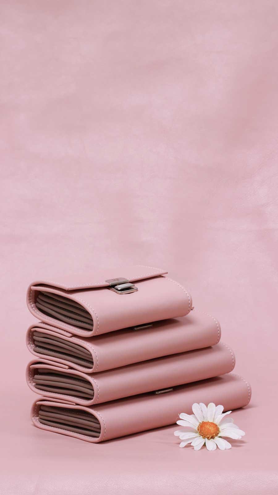 elfenklang blush leder geldbörsen
