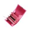 kleine portemonnaies mit grossem münzfach leder pink