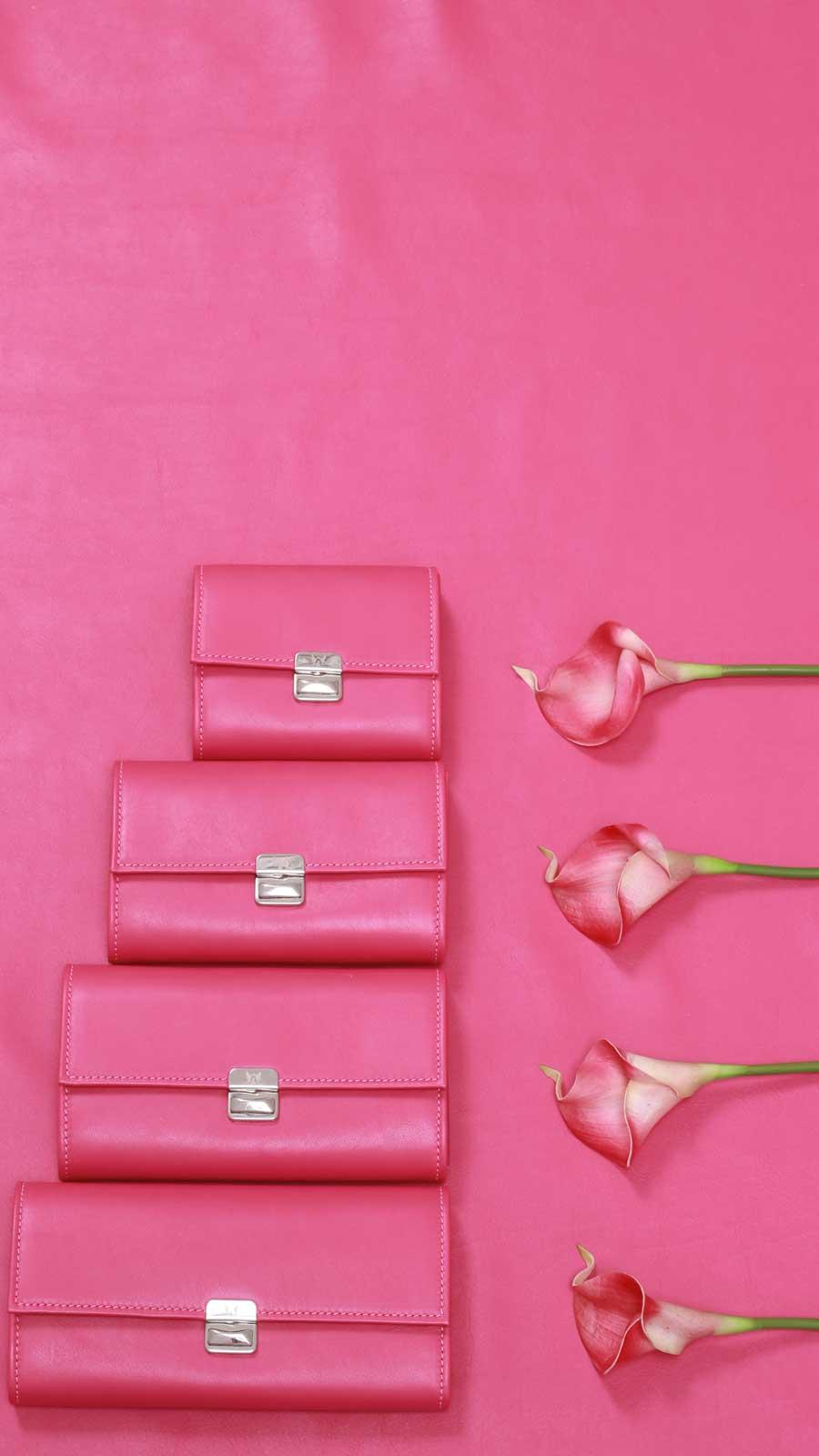 portemonnaies leder pink elfenklang