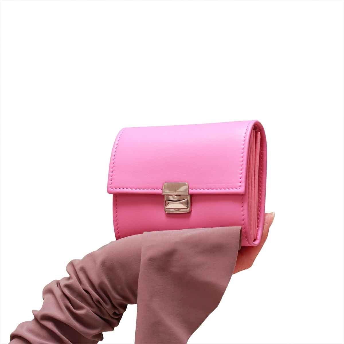 kleine leder geldbörsen mit viel platz pink