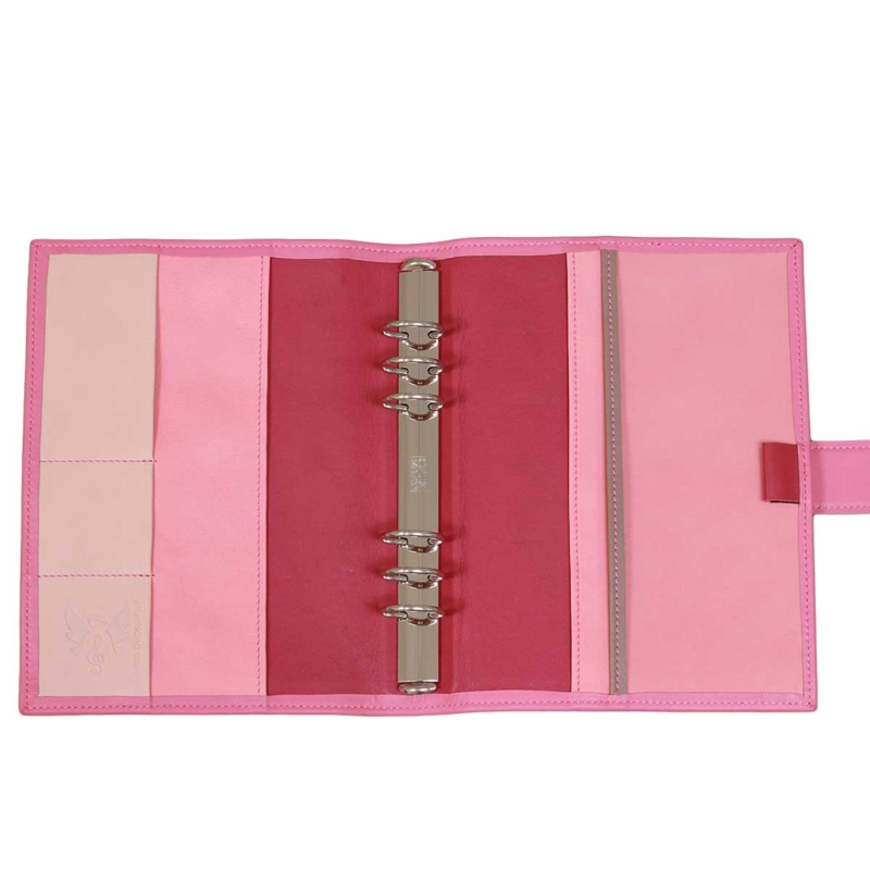 A5 Leder Planner Orchidee