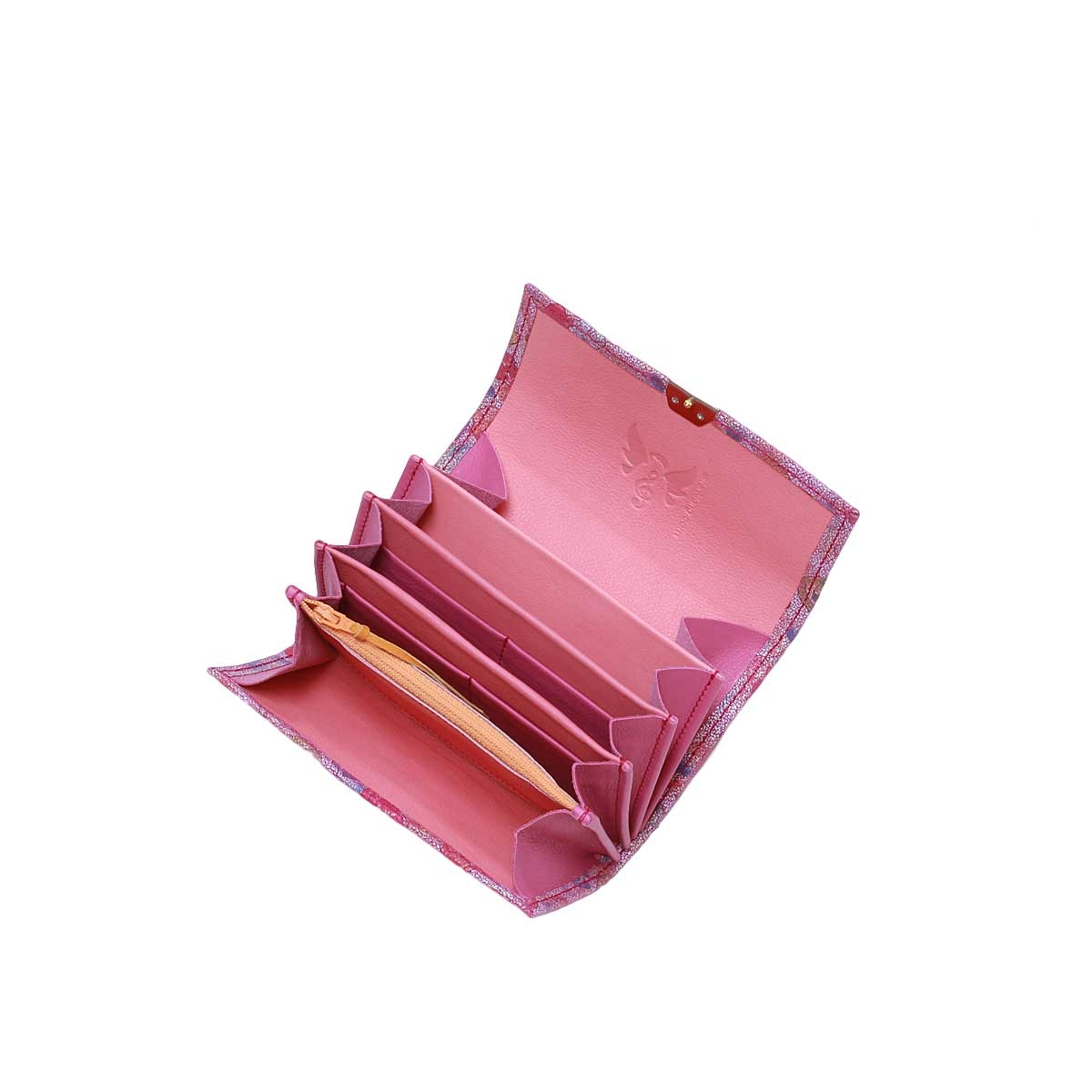 Damen Portemonnaie Wildleder Rosen Purple M